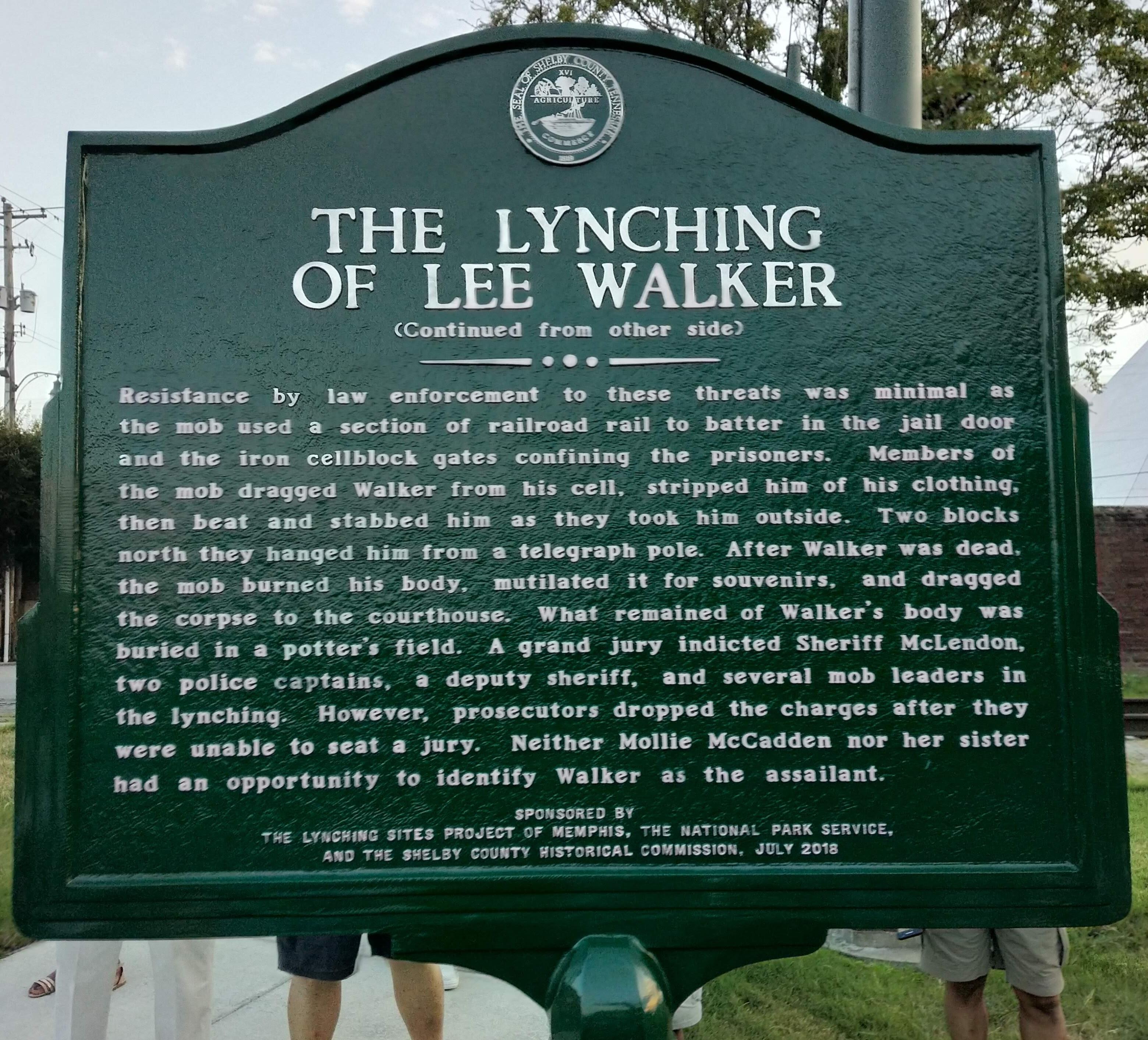 Lee Walker Historical Marker