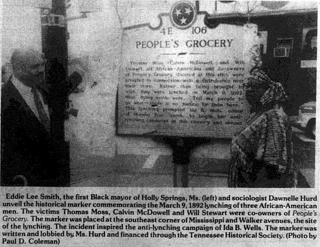 People's Grocery Historical Marker