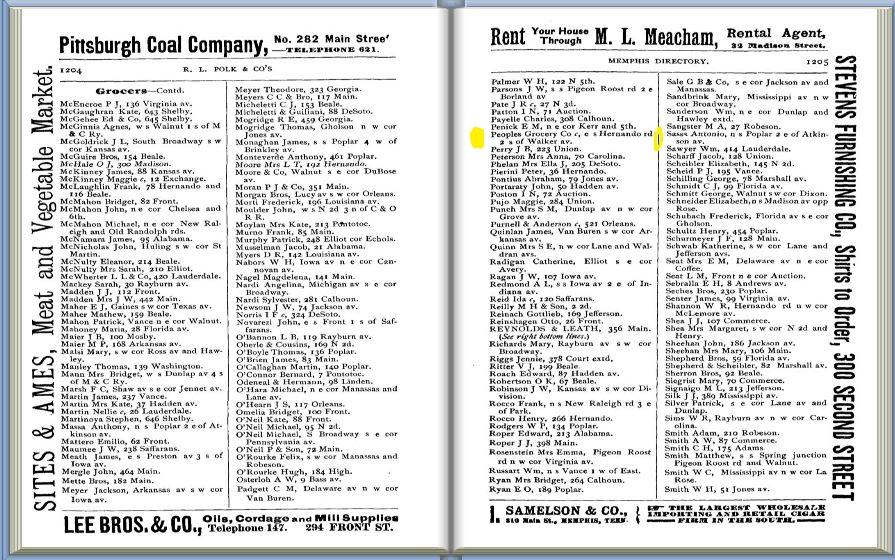 Polk's City Directory, 1891