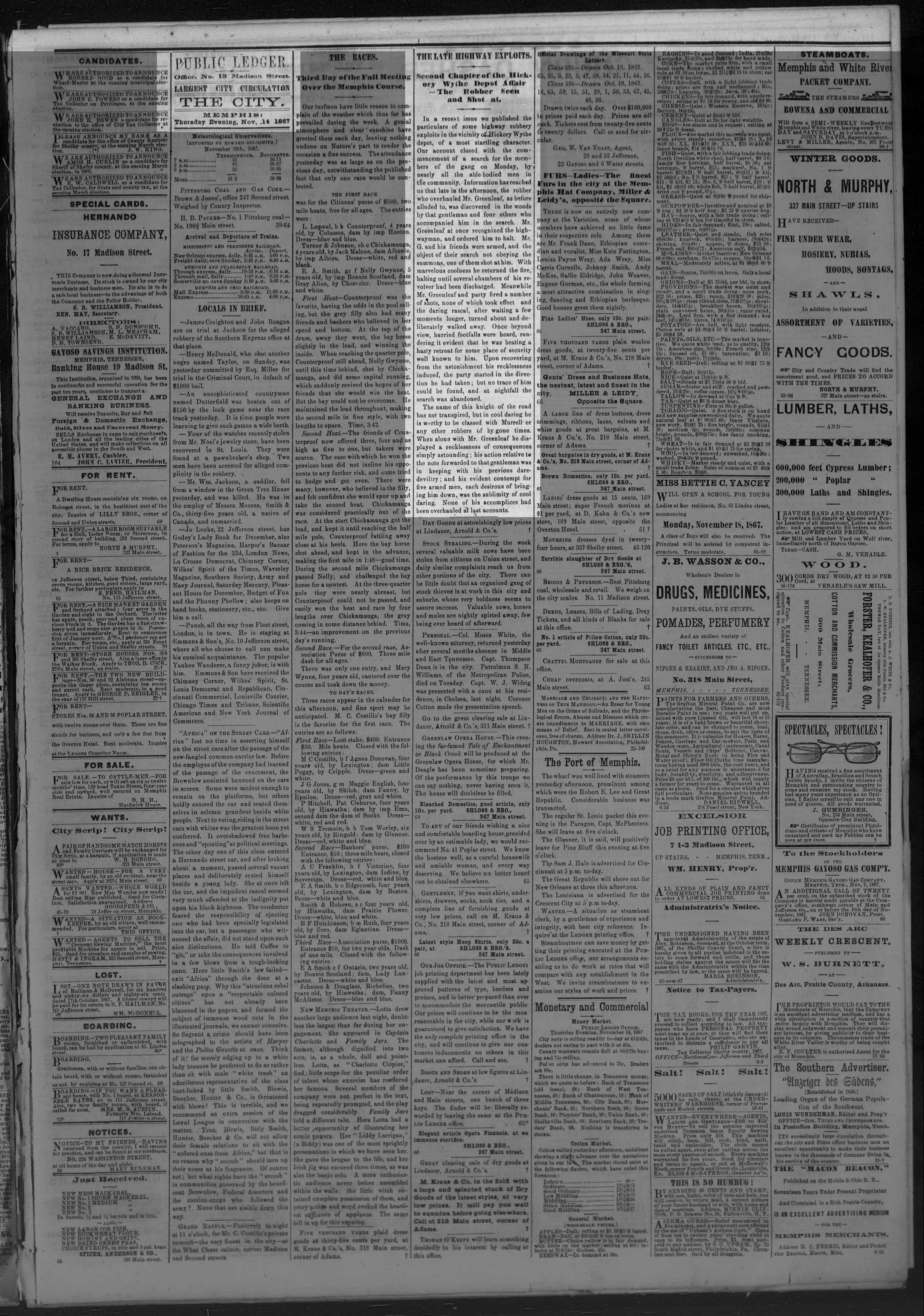 Public Ledger, 11/14/1867