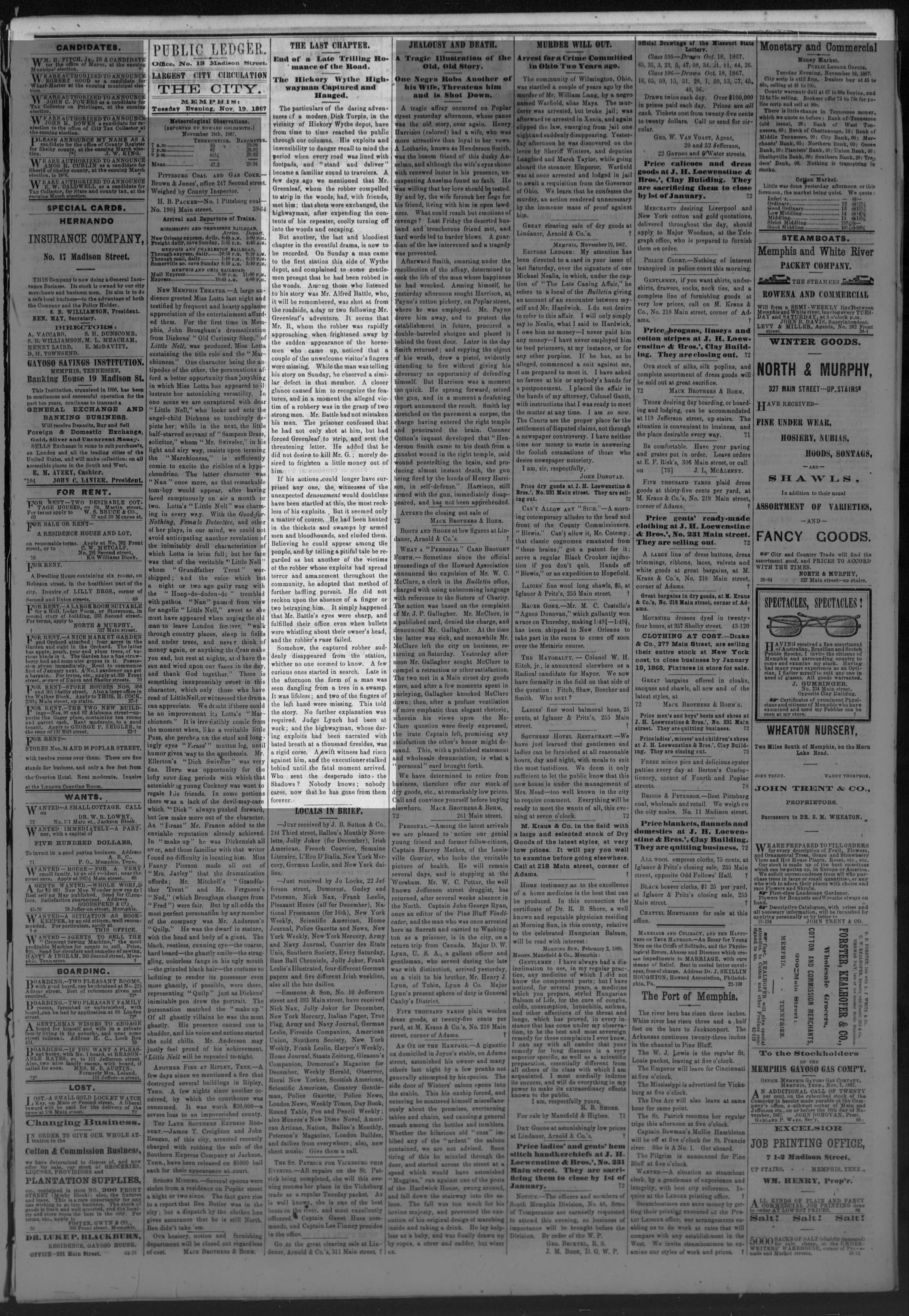 Public Ledger, 11/19/1867
