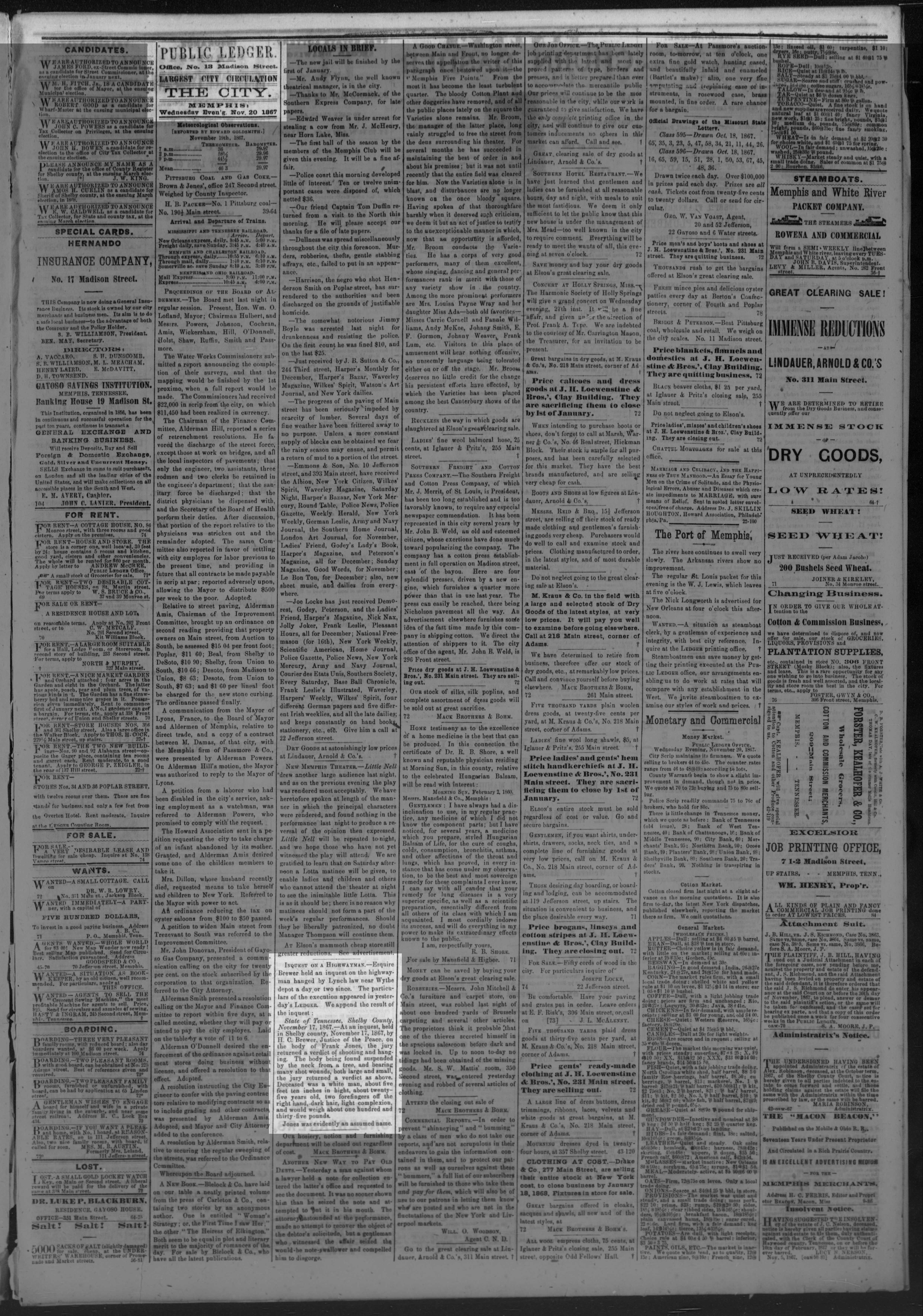 Public Ledger, 11/20/1867