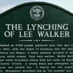 Lee Walker Historical Marker